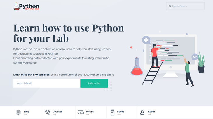 Python for the Lab Screenshot